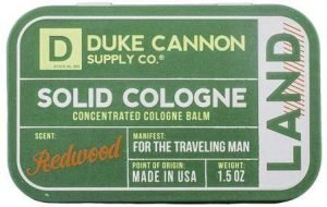 Duke Cannon Men's best Solid Cologne Land (Redwood Scent)