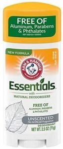 ARM & Hammer Essentials Solid Deodorant Unscented