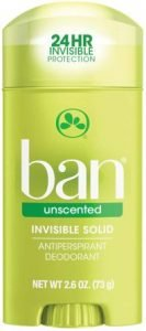Ban Unscented Invisible Solid Antiperspirant Deodorant